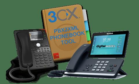 PBX2XML Tool - 3CX Adressbuch Tool für Yealink und Snom