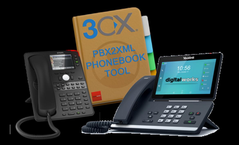 Testversion PBX2XML – 3CX Adressbuch Tool für Yealink und Snom Telefone